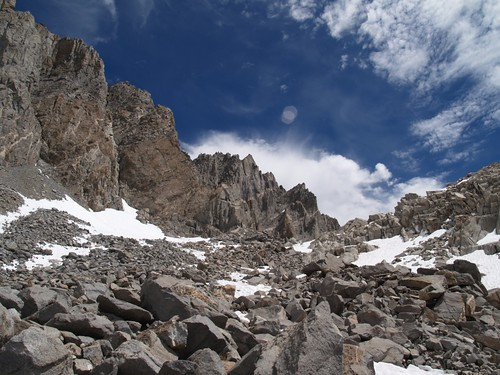 0851 Starlight Peak and North Palisade from Dusy Basin below Thunderbolt Pass | by _JFR_