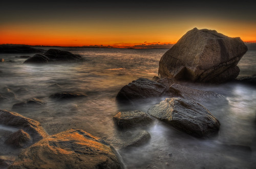 ocean longexposure sea seascape beach sunrise ma golden pentax massachusetts newengland shore westport hdr goldenhour k5 elephantrock photomatix tonemapped pentaxart trigphotography frankcgrace