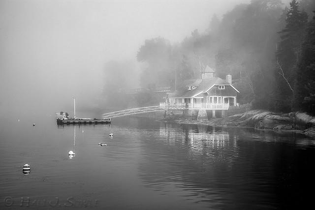Foggy Morning At The House at Seal Harbor