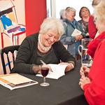 Liz Lochhead | Liz Lochhead signs her book