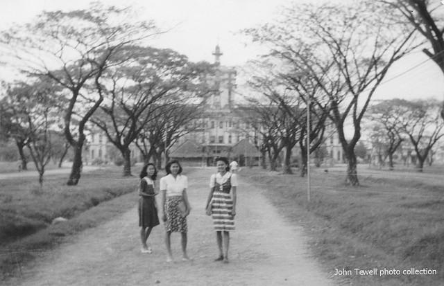 Santo Tomas University coeds, Manila, Philippines, 1945-1946