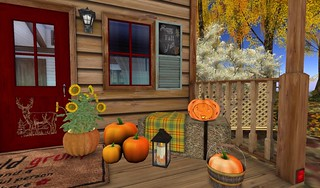 Dreamscapes Art Gallery- Porch Right Haybale Seat   by Hidden Gems in Second Life (Interior Designer)