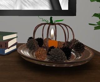 Park Place Home Decor, Autumn Candleholder   by Hidden Gems in Second Life (Interior Designer)