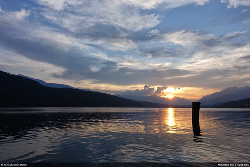 sunset sky reflection see österreich sonnenuntergang sony himmel kärnten reflexion millstätter rx100