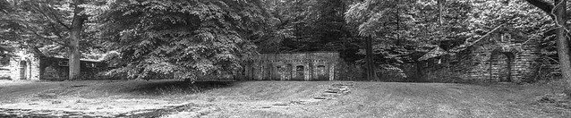 Forte Belle Fontaine Wash House Ruins Panorama