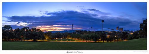 panorama sunrise landscape cityscape outdoor australia adelaide southaustralia adelaideoval