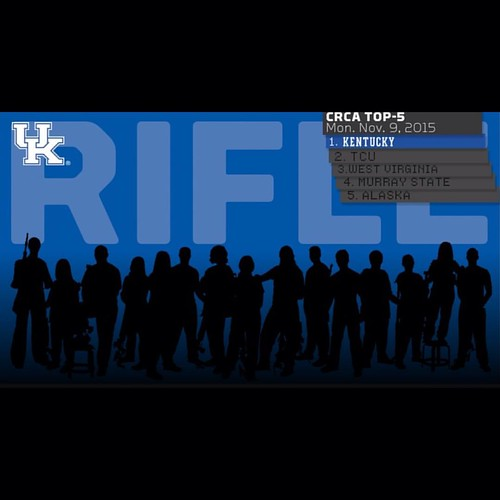 Congrats to our Wildcats of the Week, UK Rifle! Kentucky is the nation's top-ranked rifle team in this week's Collegiate Rifle Coaches Association rankings. The team shot a season-best 4703 while competing with four of the top-five teams & six of the top-