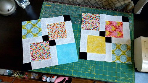 October blocks for the Promise circle of do.Good Stitches, all finished!