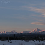 Alpenglow looking north into Canada