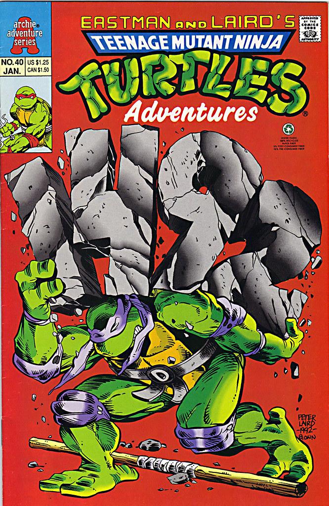 """""""Teenage Mutant Ninja Turtles Adventures""""  #40 // Cover pencils by Laird, inks by Ryan Brown (( 1992 )) by tOkKa"""