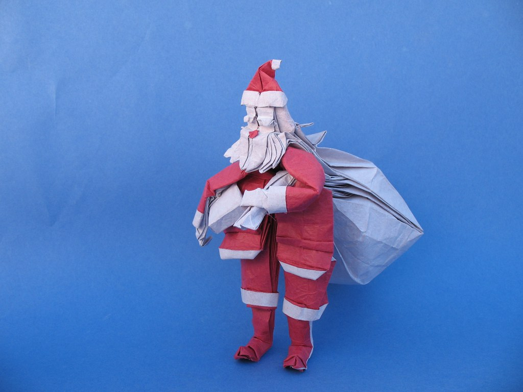 DIAGRAM] Origami Santa Claus (Mr Yukihiko Matsuno) - YouTube | 768x1024