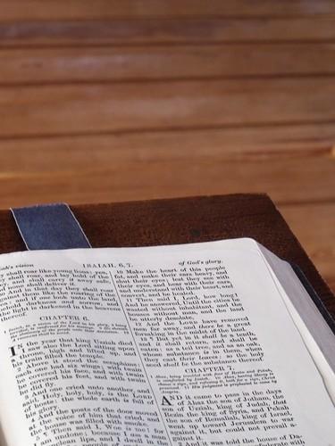 Pulpit Bible, Findhorn   by GlasgowAmateur