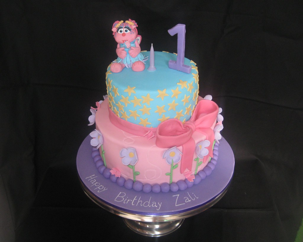 Remarkable Abby Cadabby Cake 001 Abby Cadabby Cake For A First Birthd Flickr Personalised Birthday Cards Veneteletsinfo