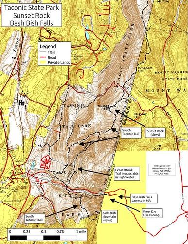 park sunset rock state maps taconic taconics andyarthur mapstaconics