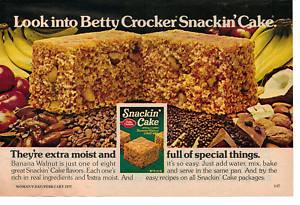 Betty Crocker snackin cake ad   by Crazed Cook