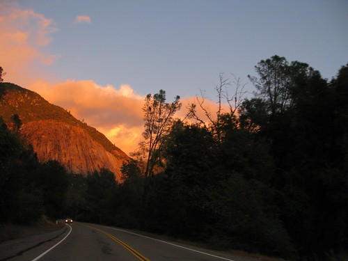 Sunset on El Portal Road