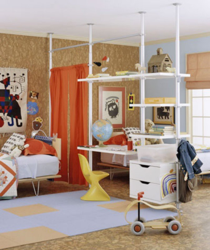 Ikea Closet System As Desk Amp Room Divider Www Home Dzine