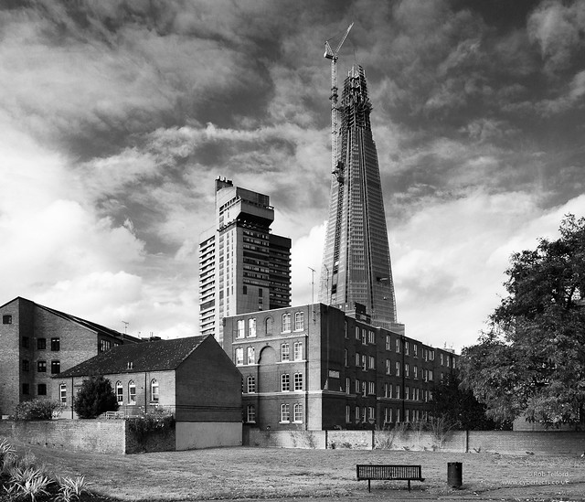 The Shard from Leathermarket Gardens