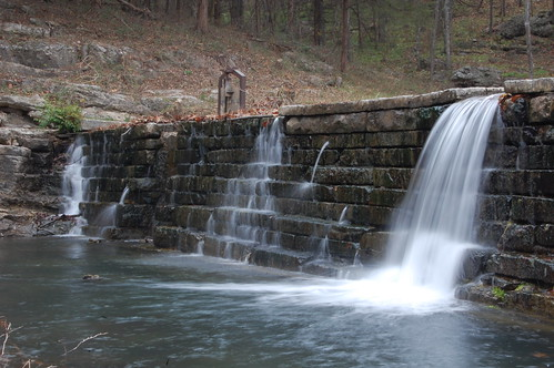 waterfall dam overcast watermotion