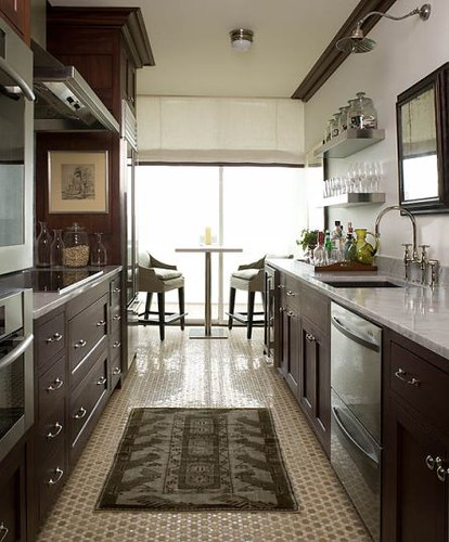 Kitchen drawers + open shelves + Farrow & Ball 'Shaded White'