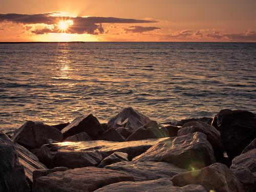 ocean sunset sky sun clouds landscape nikon indian australia prints 365 d200 foreshore geraldton 365project