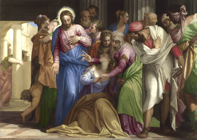 Veronese - Christ healing a woman with an issue of blood (1548)