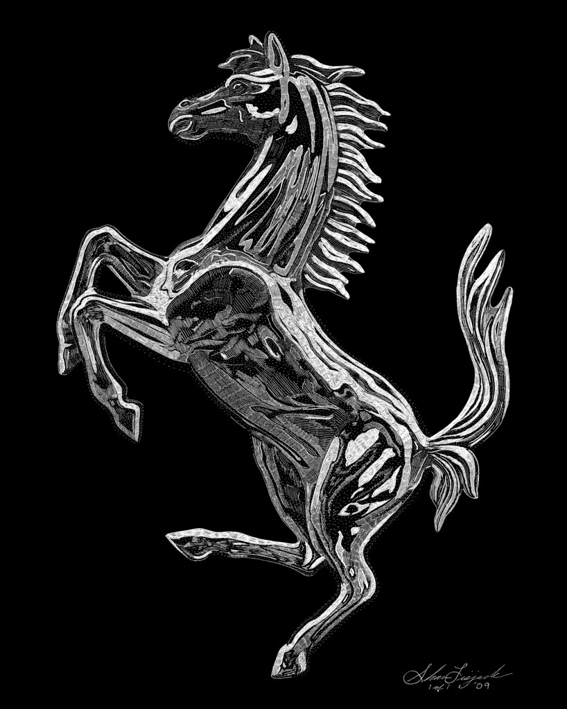 Ferrari Prancing Horse Hand Engraved By Artist Shawn Li Flickr