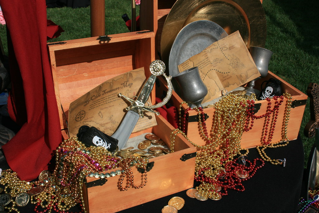 Super Pirate Treasure Chest Centerpieces Kids Pirate Party Treas Home Interior And Landscaping Ologienasavecom