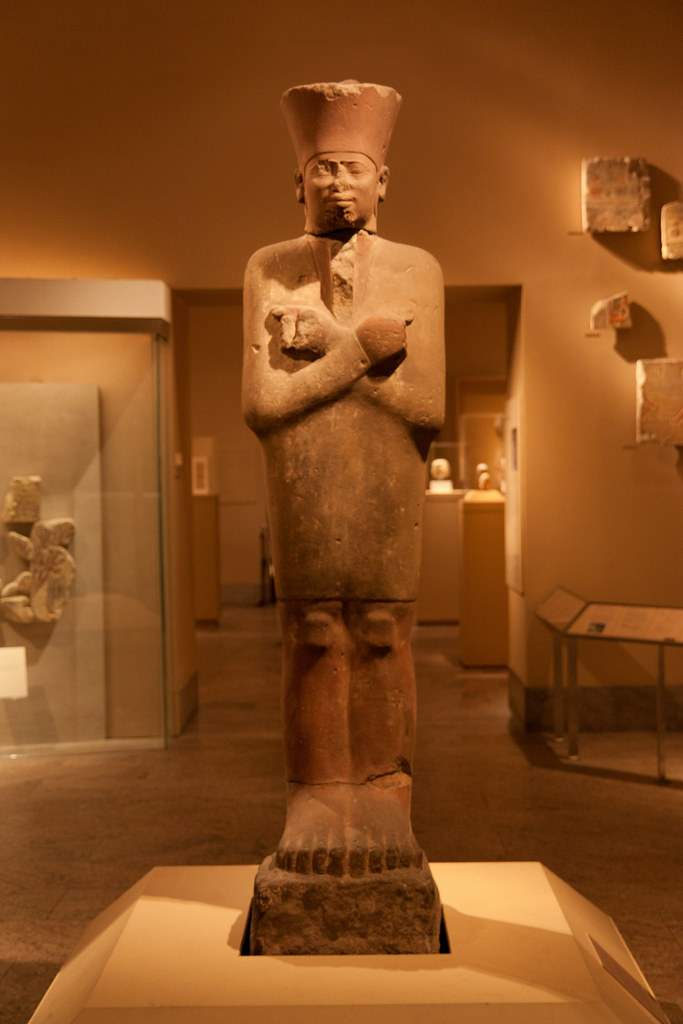 Statue of King Mentuhotep II in the Jubilee Garment Middle Kingdom Dynasty 11  ca. 2051–2000 B.C. Deir el-Bahri, Temple of Nebhepetre Mentuhotep I, Thebes  The Metropolitan Museum allows photo shooting providing there is no financial gain.  Please respect their policy
