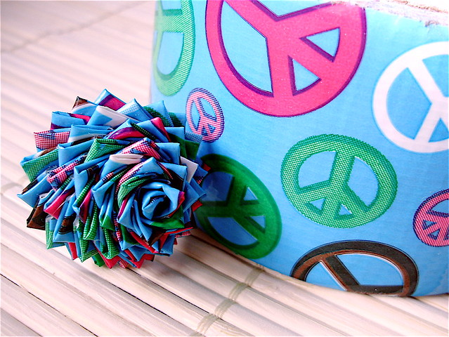 Peace Duct Tape Rose Ring