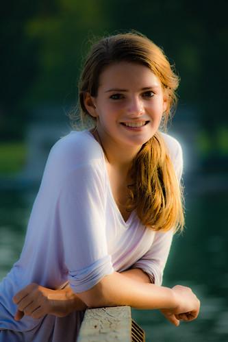 portrait sunlight female model mood bokeh deck teen softlighting naturallighting