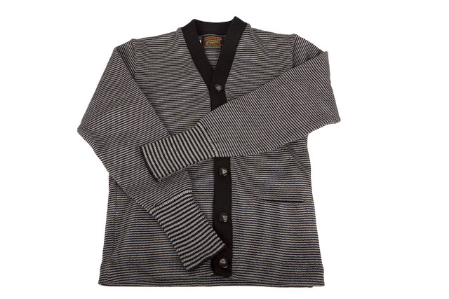 Candy Striped Cardigan (black/gray)