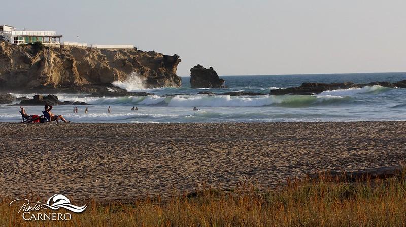 View of the ocean in Punta Carnero