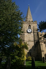 Church of St Peter and St Paul, Pickering - the clock tower and spire.