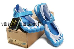 new style 71c18 4d3ed ... Mens Vibram Fivefingers Sprint shoes blue white   by Mikki Debona