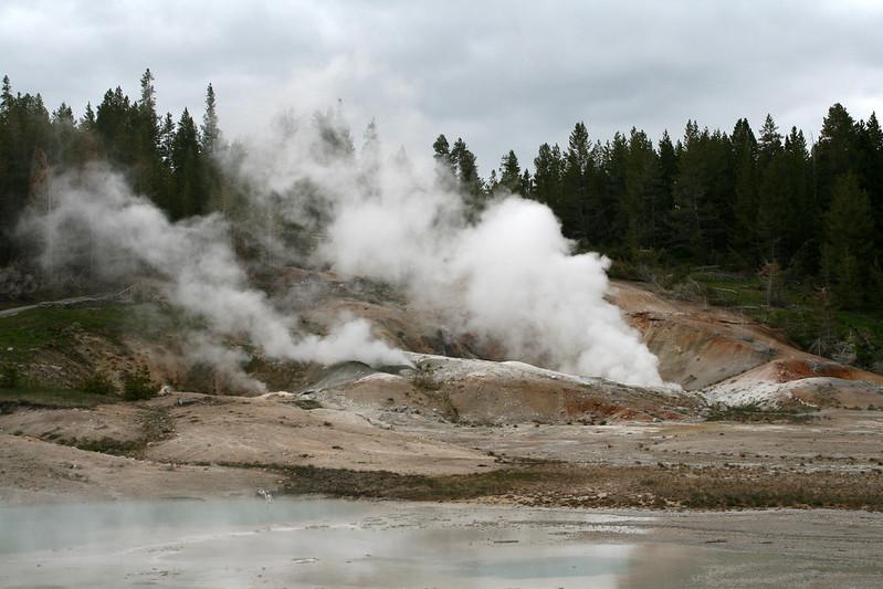 Waiting geyser