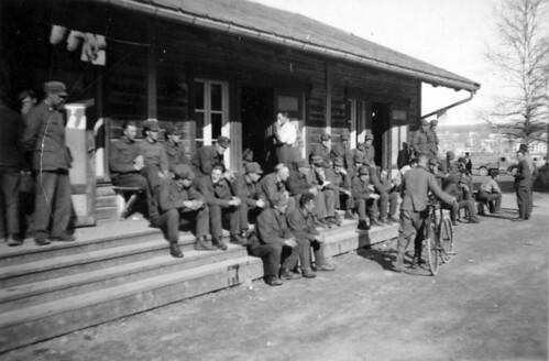 Norske Krigsfanger på Steinkjersannan militærleir