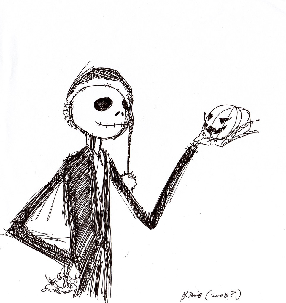 Jack Skellington - Nightmare before Christmas | Dibujo a bol ...