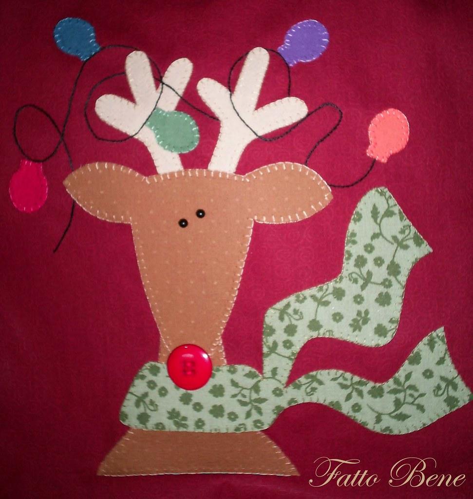 A Rena Mais Famosa Do Papai Noel rudolph, a rena do nariz vermelho.  projeto art to heart as