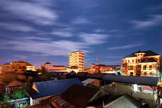 View from my house under moon light | by Chea Phal