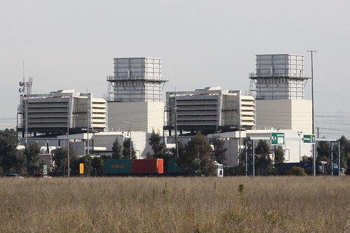 Laverton North Power Station from across the grasslands