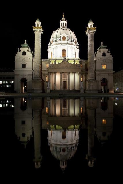 Karlskirche (Church of St. Charles Borromeo), Vienna, Austria