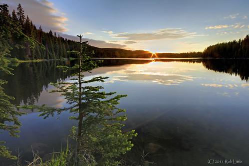sun lake start sunrise reflections colorado reservoir grandmesa sunstar
