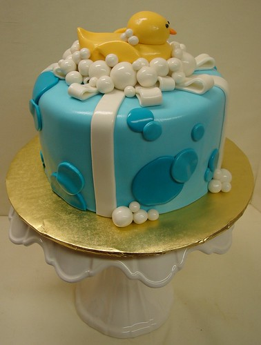 Rubber Ducky First Birthday Cake | by JMC Custom Cakes