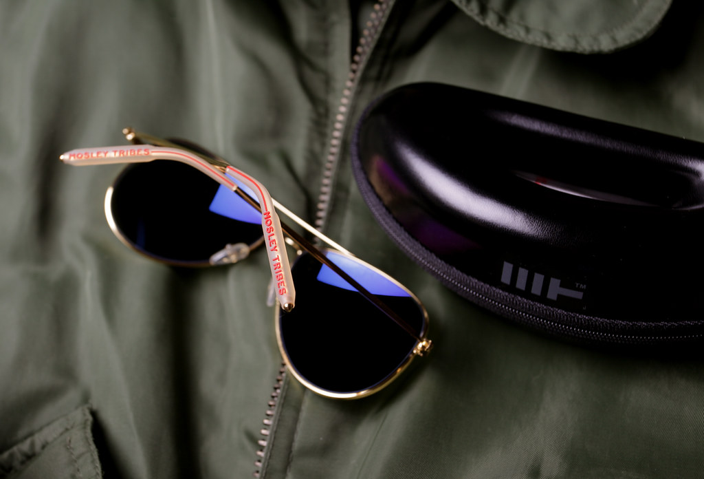 ad032c175ec4b ... Mosley Tribes Raynes Gold Aviator Sunglasses Worn By Mila Kunis in the  Book of Eli