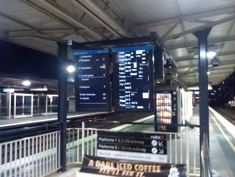 Richmond station screen broken