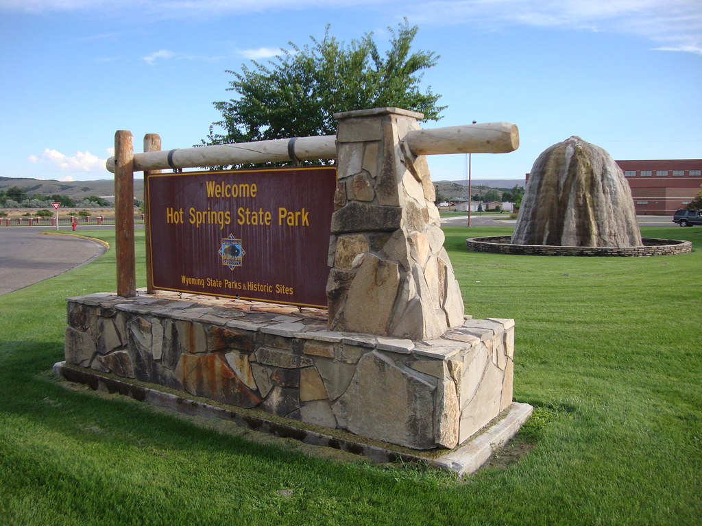 Welcome to Hot Springs State Park Sign (Thermopolis, Wyomi