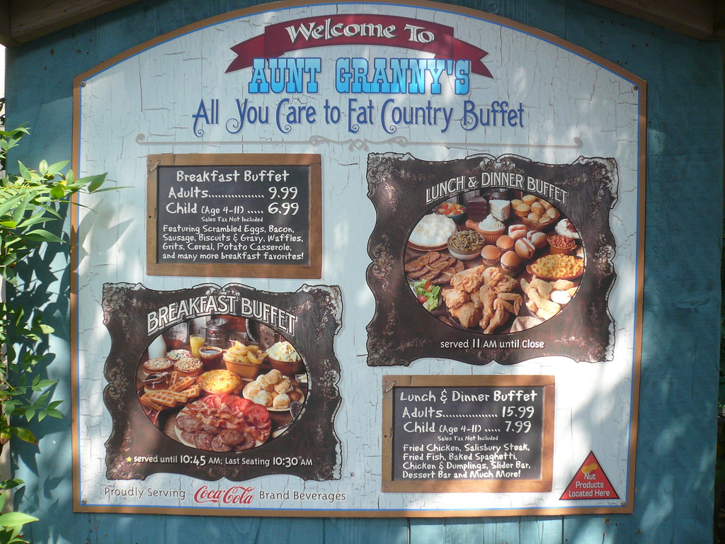 Astounding Dollywood Aunt Grannys All You Care To Eat Restaurant Home Interior And Landscaping Transignezvosmurscom