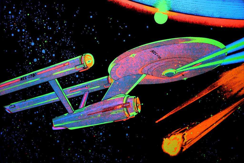 black light star trek poster