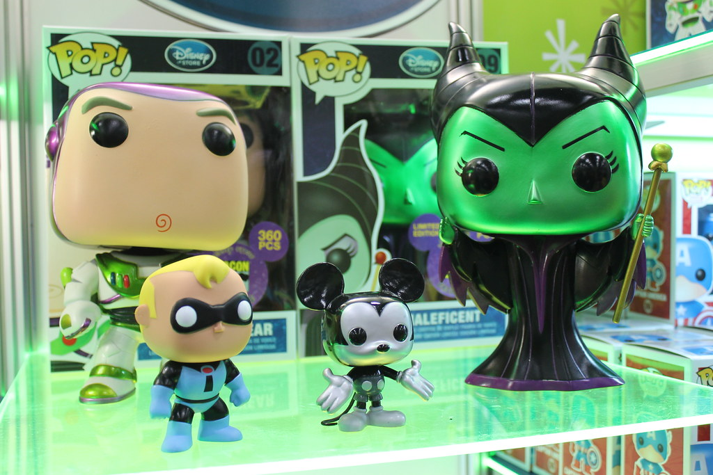 Comic-Con Exclusive Disney Pop! Figures at the Funko Exhibit at Comic-Con